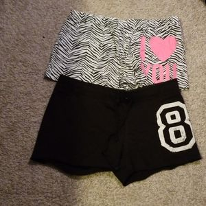 2 Pairs of Pink Bed/Lounge Shorts